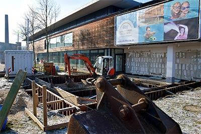 Baustelle für neuen Verwaltungstrakt • Eifel-Therme Zikkurat